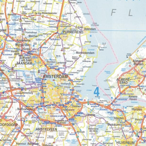 Wall Maps - Dutch Political Wall Map - Holland Map