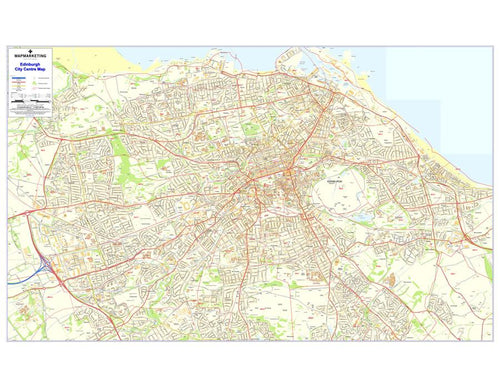 Wall Maps - Edinburgh Postcode Wall Map - City Sector Map 4