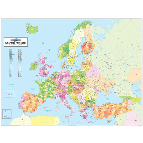 Wall Maps - European Postcode Wall Map