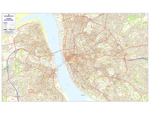Wall Maps - Liverpool Postcode Wall Map - City Sector Map 7
