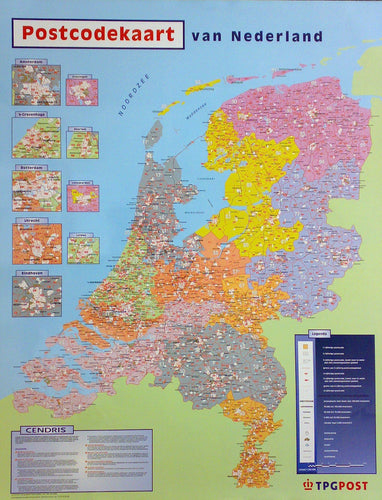 Wall Maps - Netherland Postcodes Wall Map