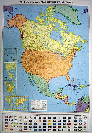 Wall Maps - North America Political Wall Map