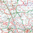Wall Maps - Northern England (Newcastle-upon-Tyne, Leeds, Manchester & Liverpool) Postcode Map - District Map 4