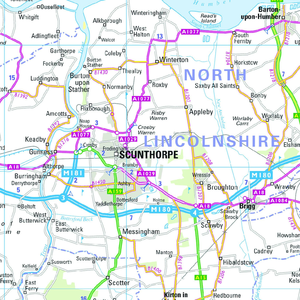 Map Of Northern England.Northern England Regional Road Map Wall Map 4