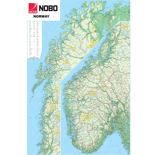 Wall Maps - Norway Political Wall Map
