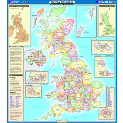 Os Maps Uk Ordnance Survey united kingdom wall map series