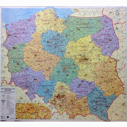 Wall Maps - Polish Administrative Wall Map - Poland Map
