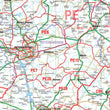 Wall Maps - Southeast England & Midlands (Birmingham, Bristol, London) Postcode Wall Map - District Map 2