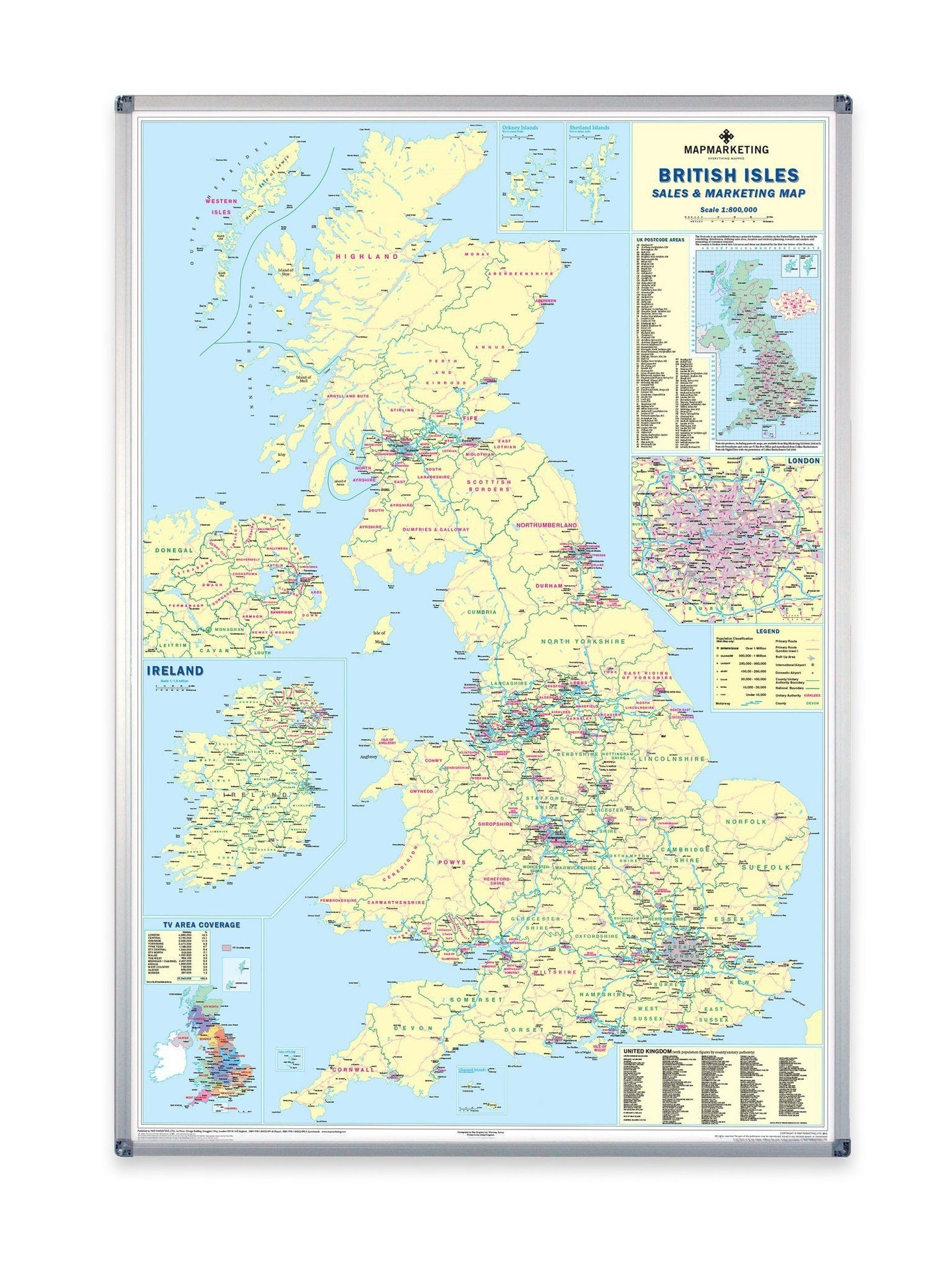 wall maps supersize uk sales and marketing wall map