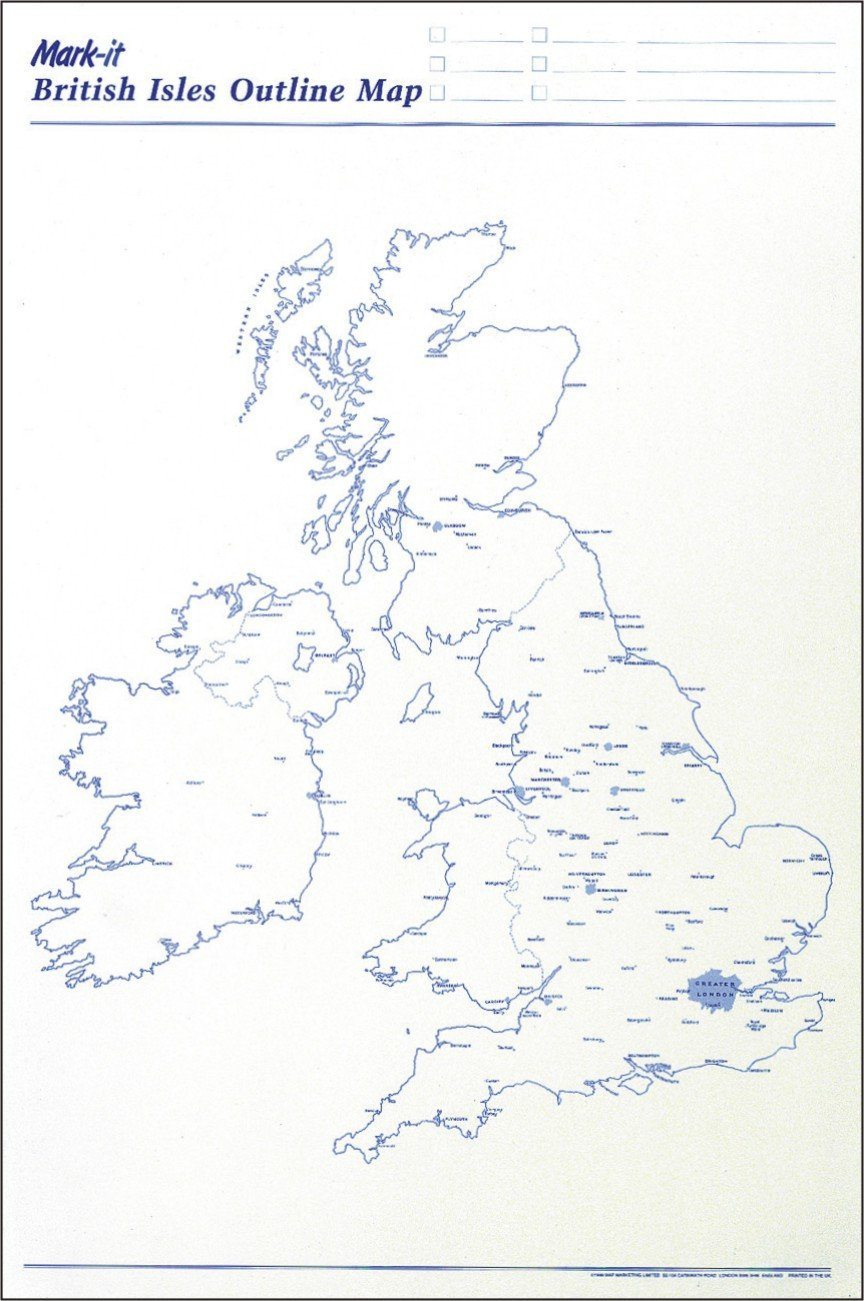 Wall Maps - Uk Outline Map Planner
