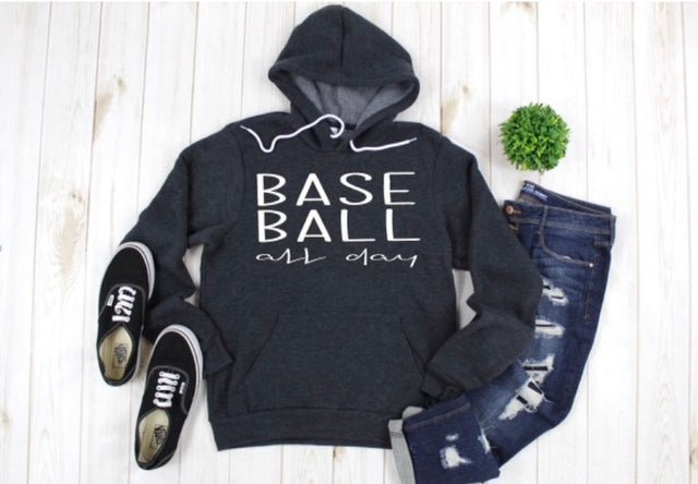 BaseBall all day hoodie sweatshirt