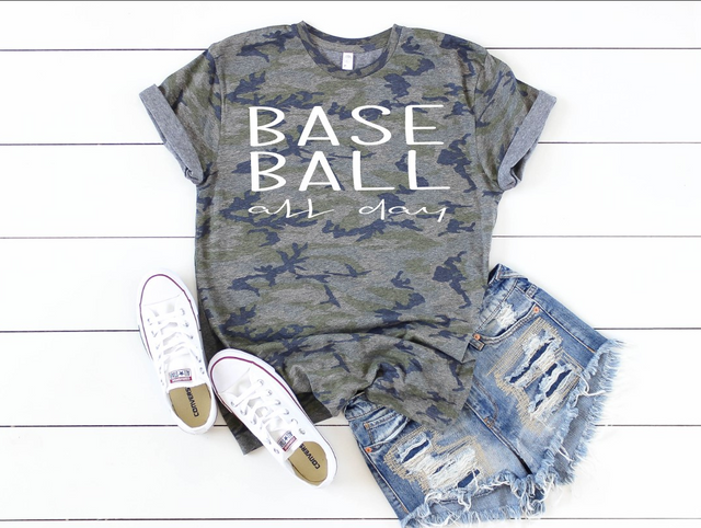 BASEBALL ALL DAY CAMO TEE