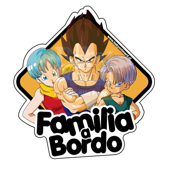 #35 Letrero Auto Familia Vegeta-Trunks