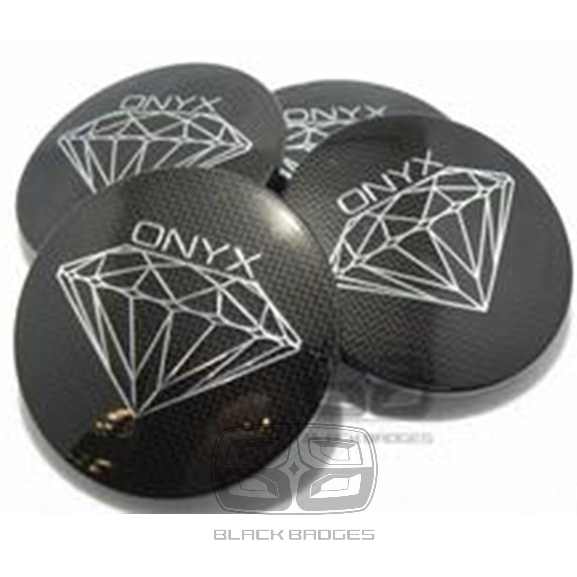 GENUINE ONYX ALLOY WHEEL CENTRE CAPS TO FIT RANGE ROVER SPORT VOGUE DISCOVERY