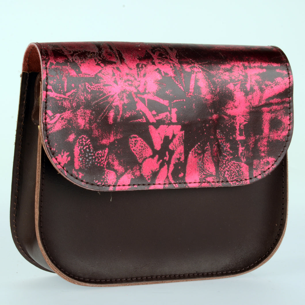 Pink Passion Leather Saddle Bag - J D'Cruz