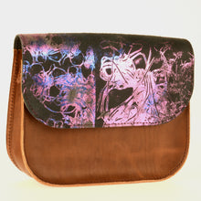 Violet Whirlwind Leather Saddle Bag - J D'Cruz