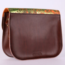 Tangerine Green Dream Leather Saddle Bag - J D'Cruz