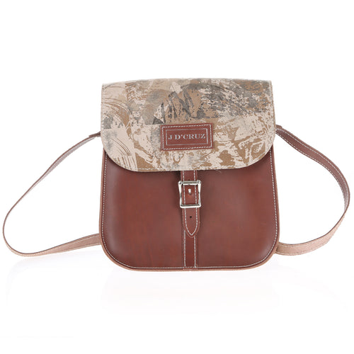 Brown Leather Satchel - J D'Cruz