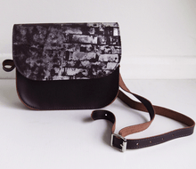 Brown and Silver Leather Saddle Bag - J D'Cruz