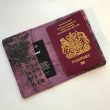 Grape and Pink Leather Passport Cover - J D'Cruz