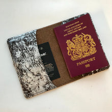 Dark Chocolate and Silver Leather Passport Cover - J D'Cruz