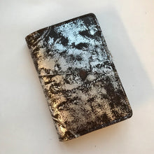 Dark Chocolate and Silver Leather Passport Cover