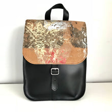 Sandy Metallic Leather Rucksack