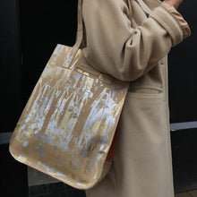 Nude Gold and Silver Large Leather Shopper - J D'Cruz