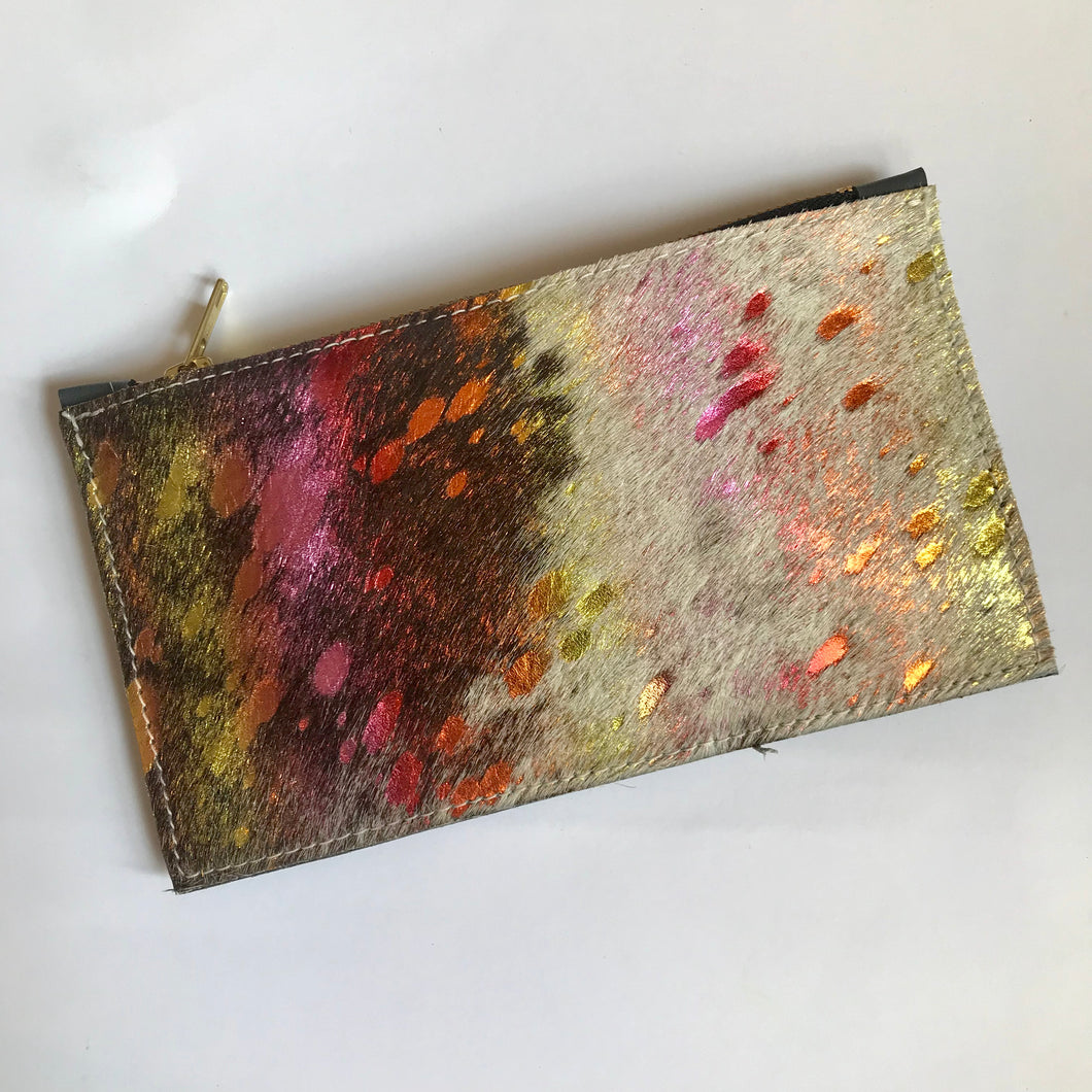 Unicorn Small Leather Clutch - J D'Cruz