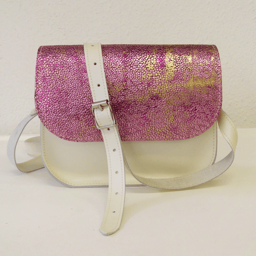 Pink Stingray and White Saddle Bag - J D'Cruz