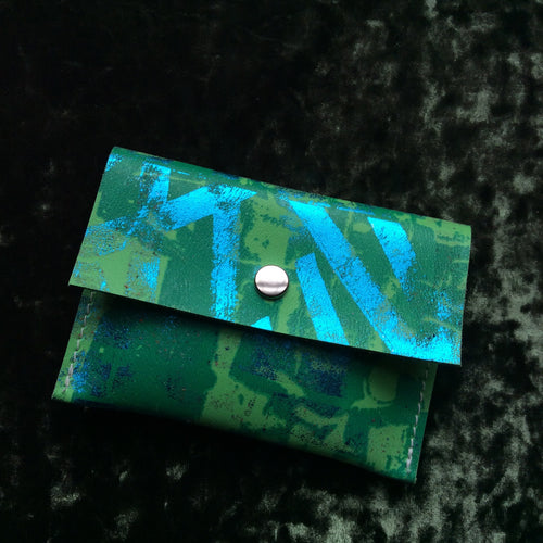 Apple Green Small Leather Coin Purse - J D'Cruz