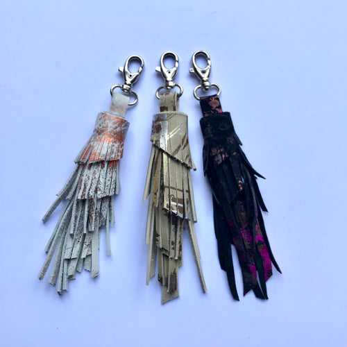 Large Leather Tassel