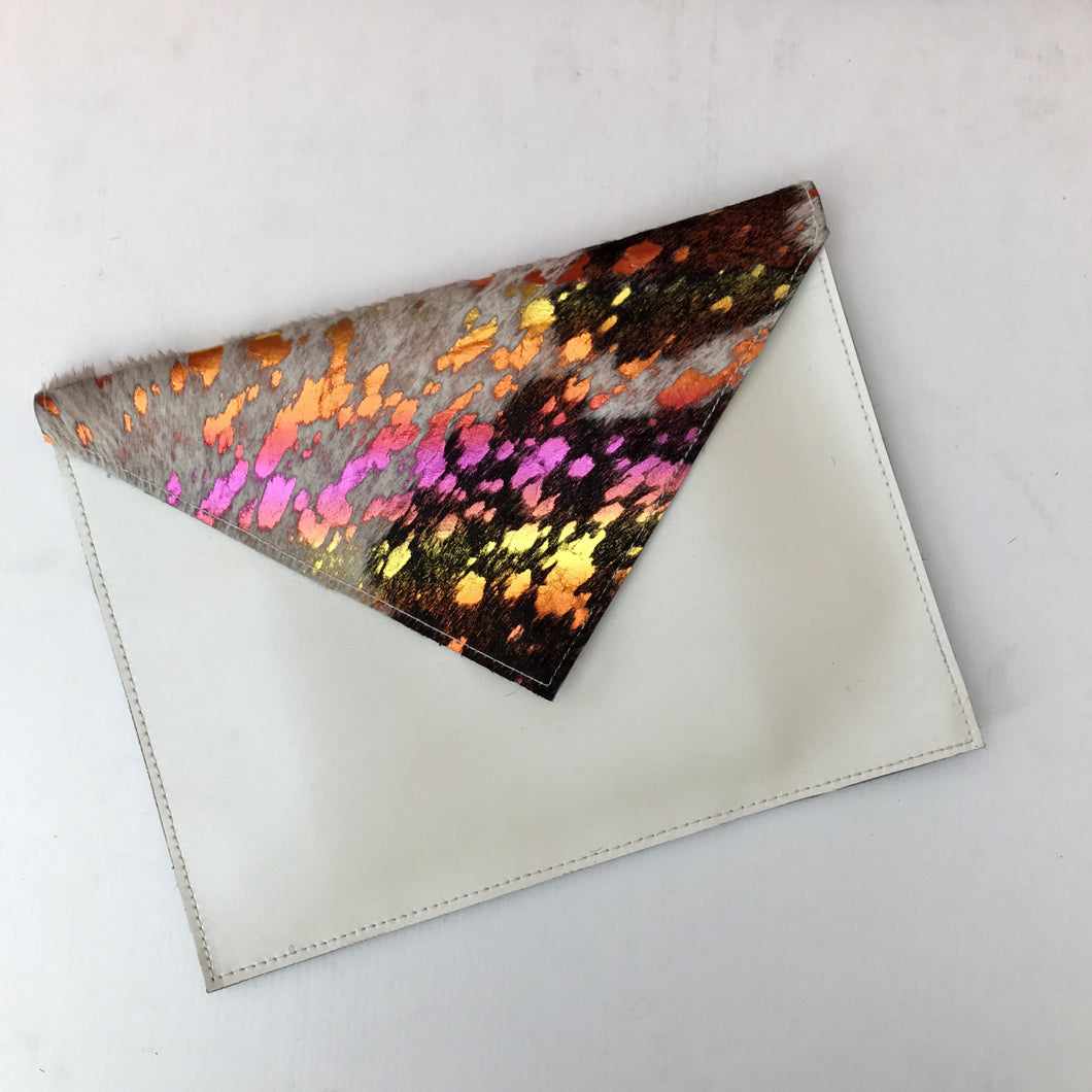 Pearl Unicorn Envelope Clutch