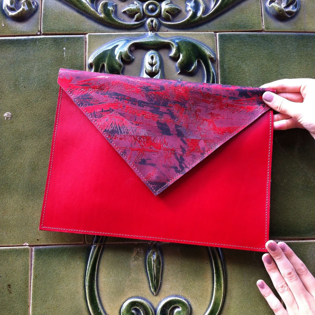 Royal Red Envelope Clutch - J D'Cruz
