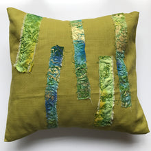 Medium Green Embroidered Cushion - J D'Cruz