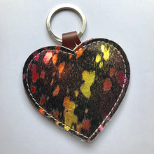 Unicorn Leather Heart Keyring - J D'Cruz