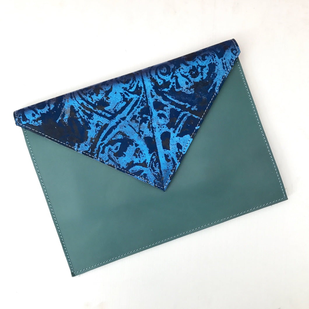 Aqua Blue Envelope Clutch - J D'Cruz