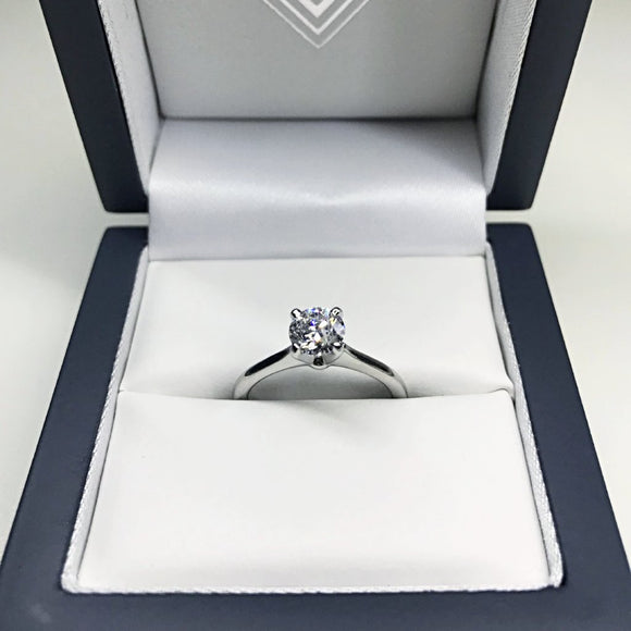 Round 0.75ct D VVS2 GIA Diamond Ring in Platinum