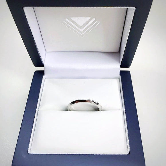 2mm Knife Edge Platinum Wedding Ring