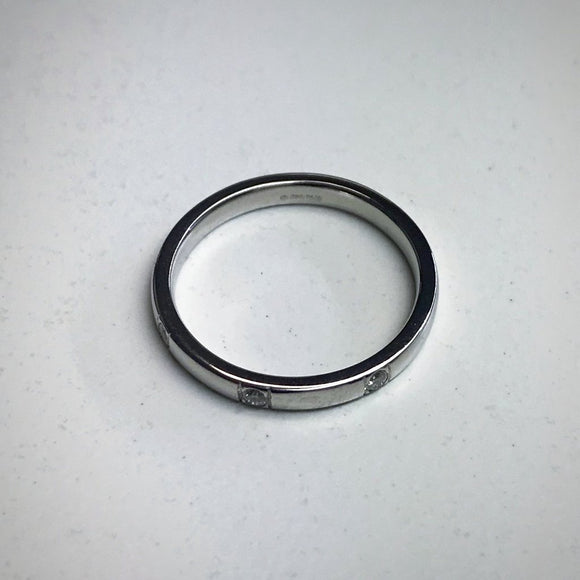 2.5MM PLATINUM WEDDING BAND DIAMOND SET
