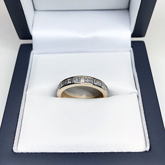 1.50 CARATS H-I VS 3.5MM FULL CHANNEL SET 18K ROSE GOLD DIAMOND RING