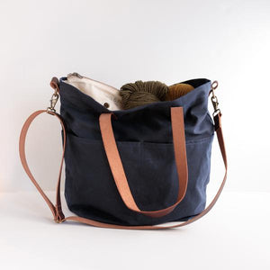 Waxed Canvas Crossbody Project Tote