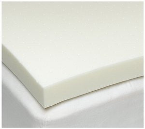 Full/Double Size 3 Inch Thick, 4 Pound Density Gray Visco Elastic Memory Foam Mattress Pad Bed Toppe