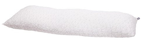 Coop Home Goods   Adjustable Body Pillow   Hypoallergenic Cross Cut Memory Foam   Lulltra Zippered W