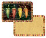 Counterart Reversible Set Of 4 Wipe Clean Placemats Hot And Spicy Peppers
