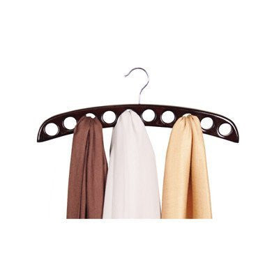 10 Hole Scarf Hanger   Walnut