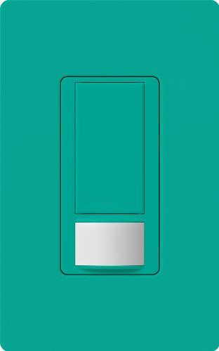 Lutron Maestro Motion Sensor Switch, No Neutral Required, 250 Watts Single Pole, Ms Ops2 Tq, Turquoi