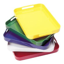 Red 4-Pack Montessori Stackable Trays with Handles Set