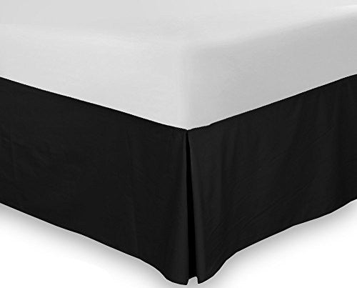 Utopia Bedding Queen Bed Skirt (Black)