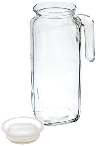 Bormioli Rocco Glass Frigoverre Jug With Airtight Lid (1 Liter): Clear Pitcher With Hermetic Sealing